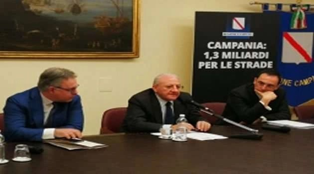 Piano strade Regione Campania il Presidente De Luca