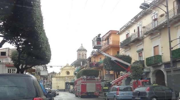 Melito - intervento pompieri per il mal tempo