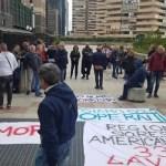 """American Laundry Melito, flash mob alla Regione:  """"Siamo operai, no camorristi"""""""