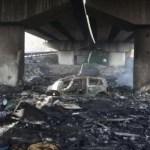 Perlustrazione al campo rom di Scampia, lavori ancora fermi