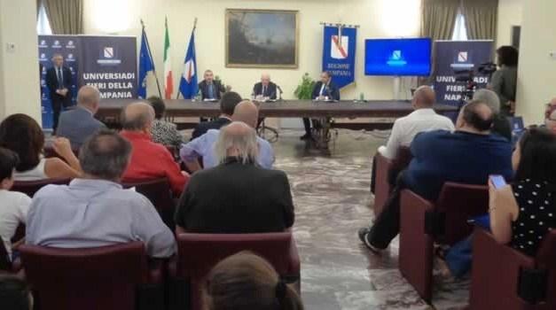 Regione Campania, bilancio dell'Universiade e dei Mini Giochi 2019