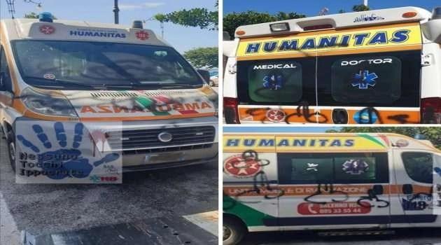Disegni osceni su un'ambulanza
