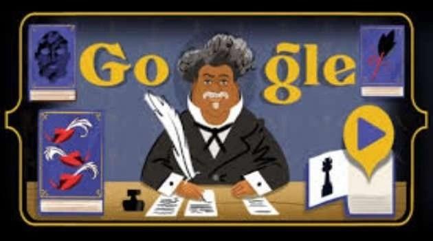 Il Conte di Montecristo in versione fumetto: il doodle dedicato a Dumas