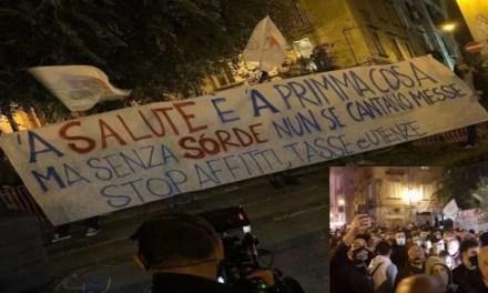 Napoli, cronaca. In strada contro il coprifuoco