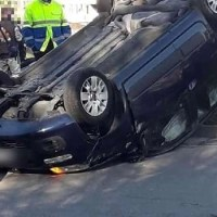 Giugliano, cronaca. Pauroso incidente stradale alla rotonda tra Villaricca e Giugliano