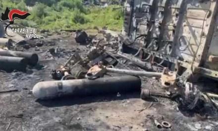 Incendio rifiuti a Giugliano: 2 arresti
