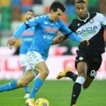 Questa sera contro l'Udinese serve vincere per continuare la corsa Champions: Lozano torna titolare