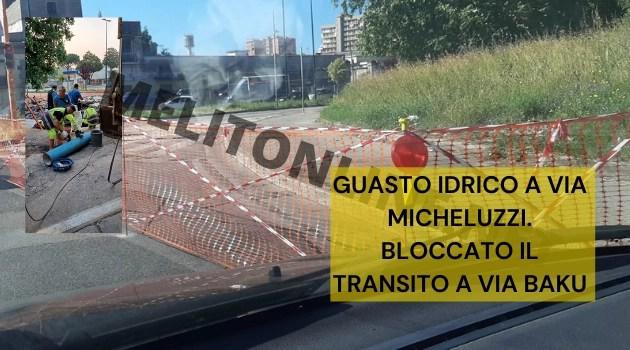 Guasto idrico a Via Micheluzzi. Bloccato il transito a Via Baku