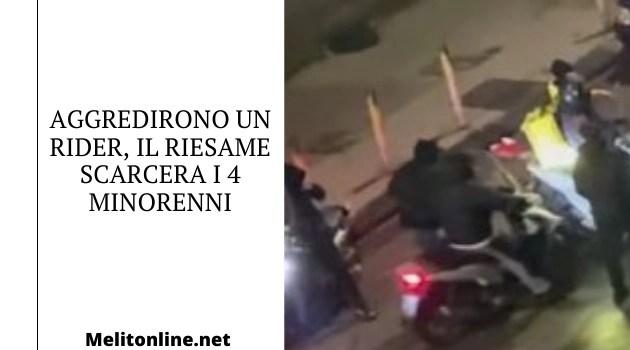 Aggredirono un rider, il Riesame scarcera i 4 minorenni