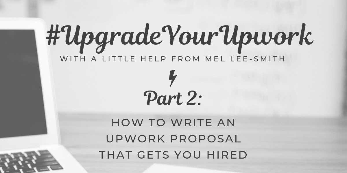 How to write an Upwork proposal / featured