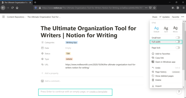 content repository in notion notetaking tips