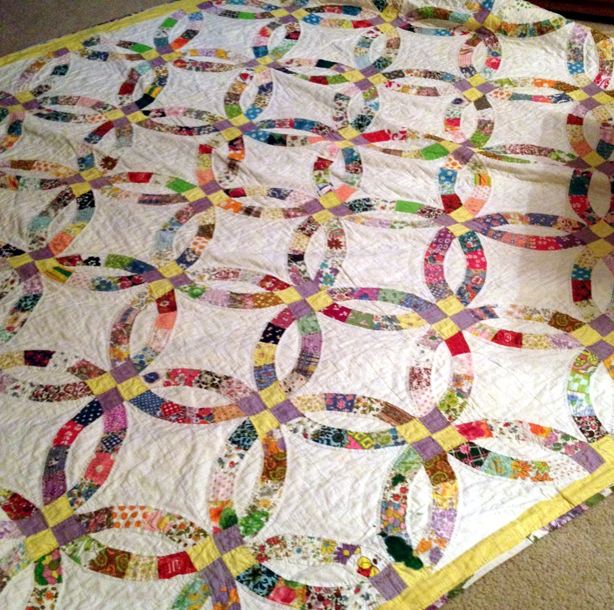 Great-Grandma's Hand-Stitched Vintage Quilt