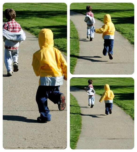 The First Stirrings - children running