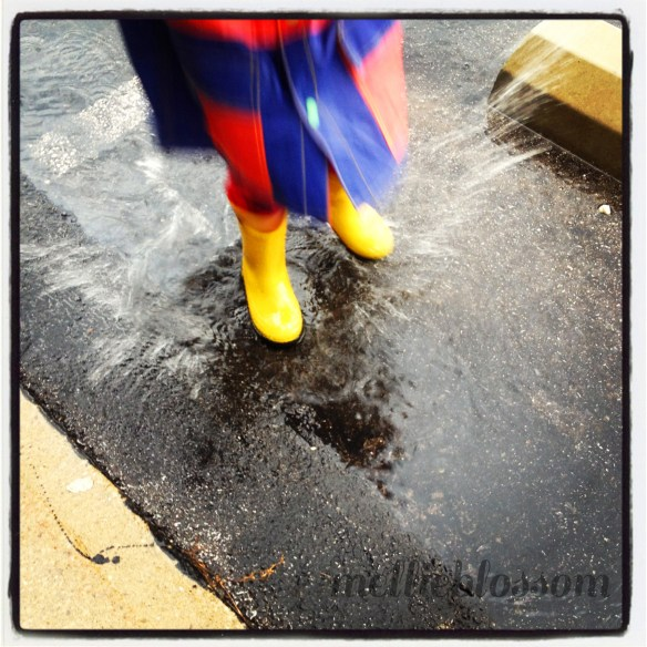 how to play - splash in puddles