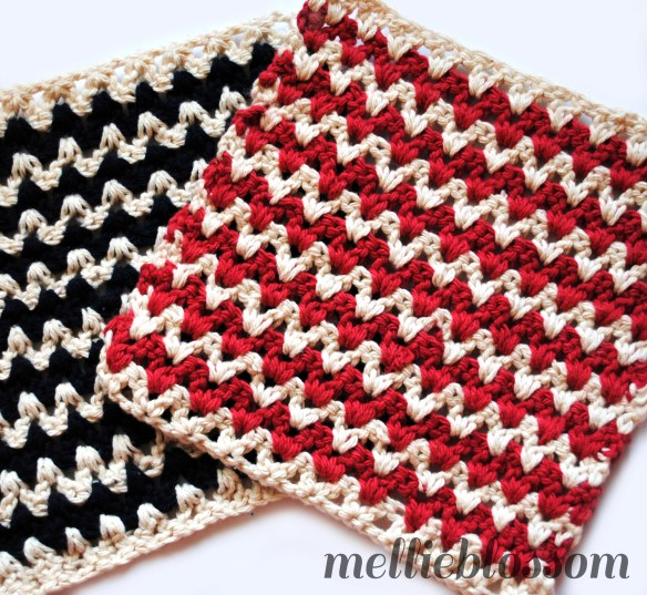 Free Crochet Dishcloth Pattern Zigzag Mellie Blossom