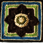 Crochet Eight Pointed Flower Square