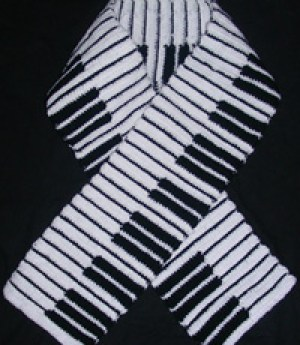 Crochet Gifts for Men - Piano Scarf