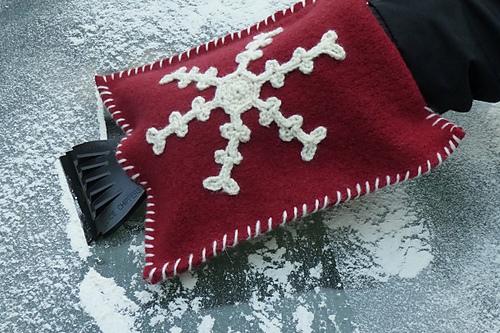 Crochet Gifts for Men - Felted Ice Scraper