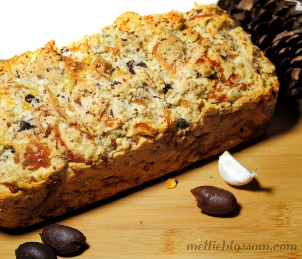 Recipe: Olive Cheese Bread with Garlic and Cracked Black Pepper