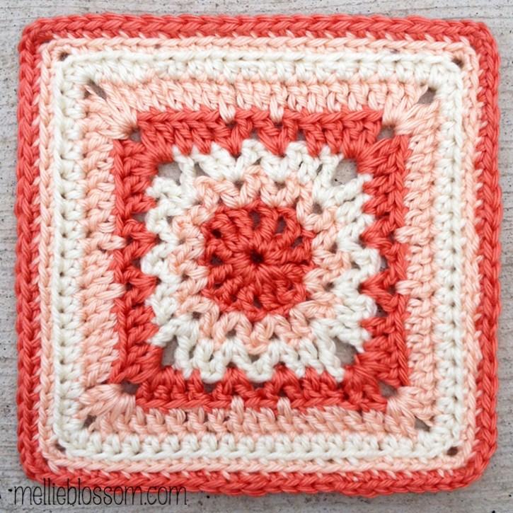 January Crochet Along Squares -