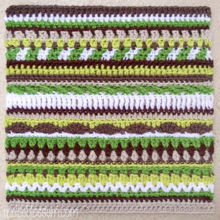 Sprouting Hues Crochet Swap Squares