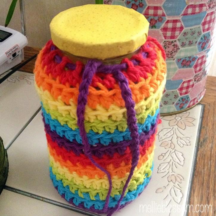 crochet jar covers - mellieblossom.com