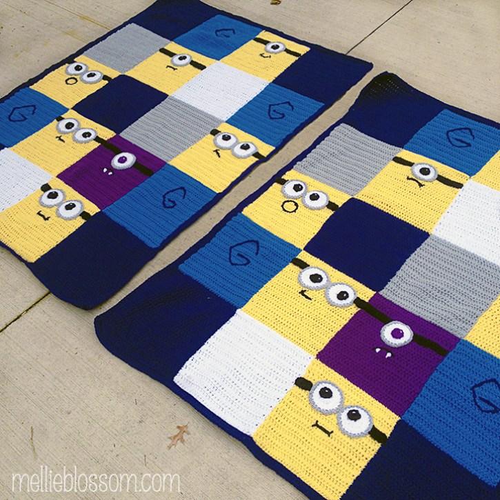 Crochet Minions Blanket Mellie Blossom