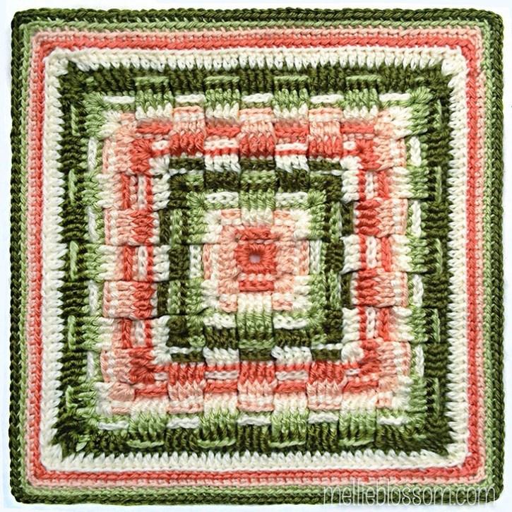 Will's Weave Crochet Square - mellieblossom.com