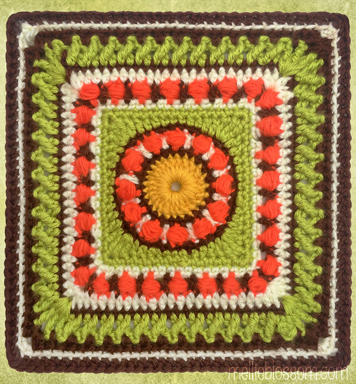 2017 Crochet Along - Moody Blues Crochet Square - mellieblossom.com