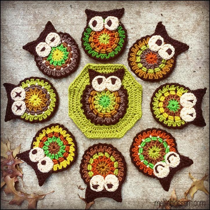 Crochet owl blanket - mellieblossom.com