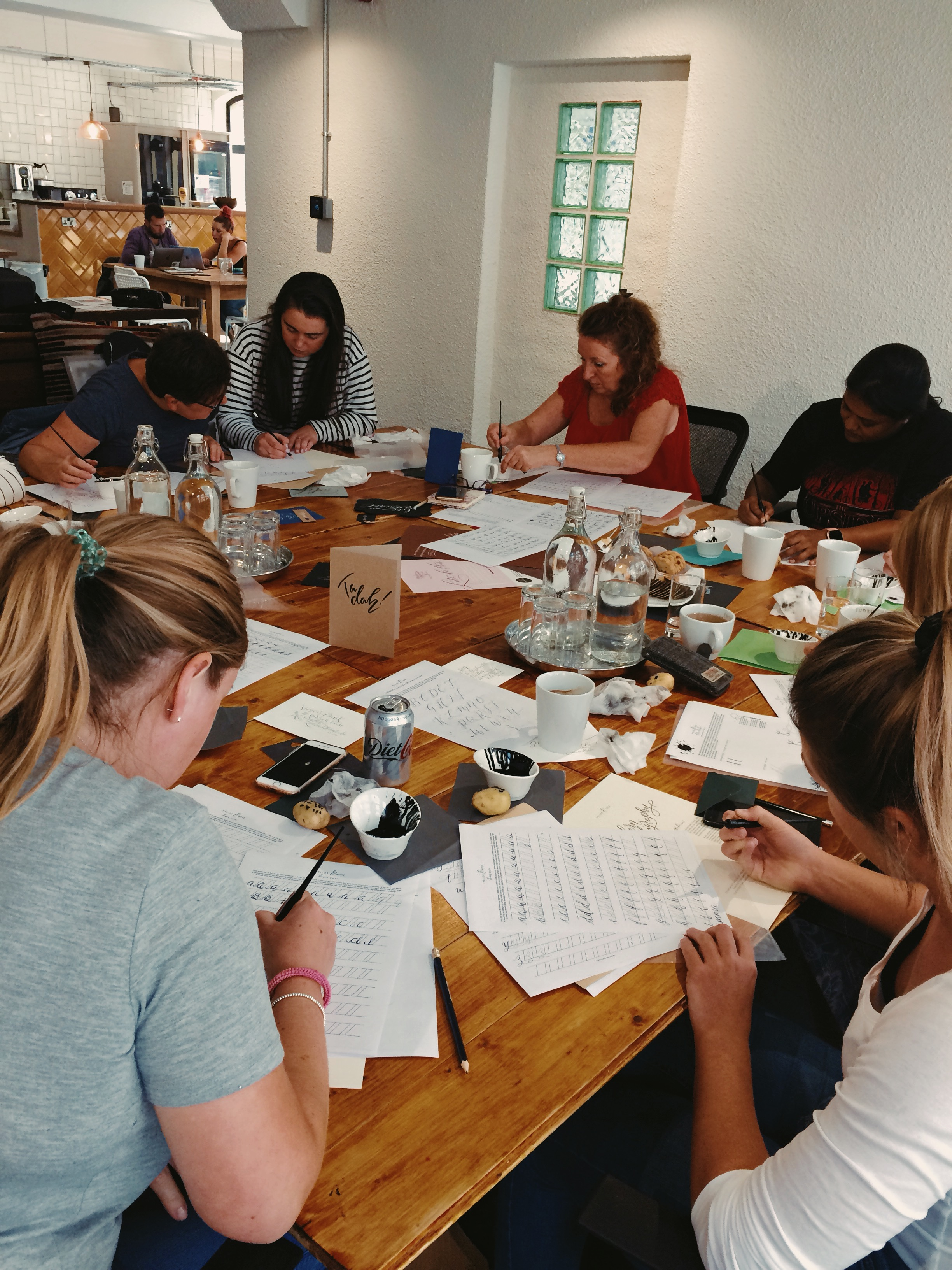 Beginners Modern Calligraphy workshop at Society1 in Preston with Mellor and Rose