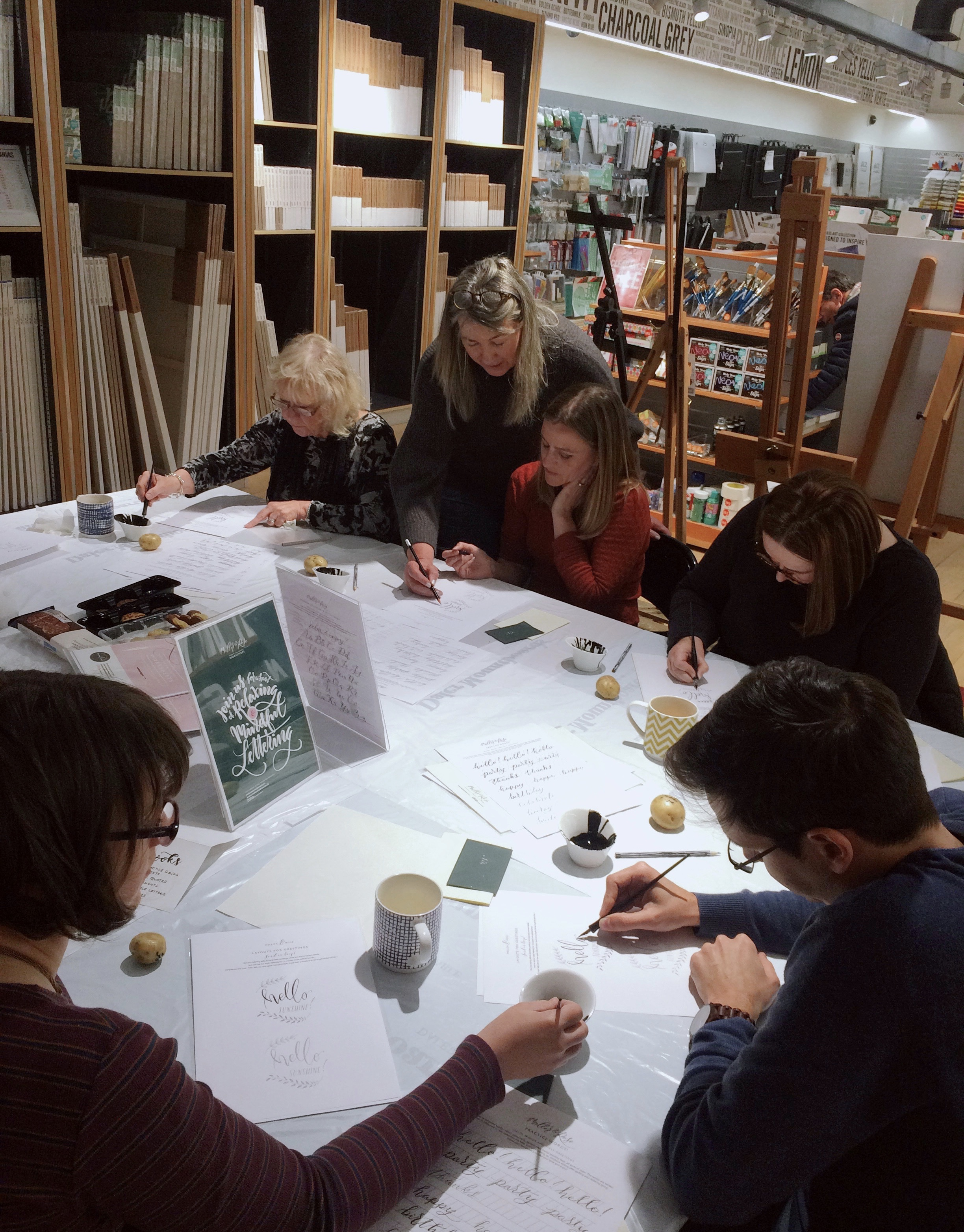 Modern Calligraphy workshop with Mellor & Rose Lancashire