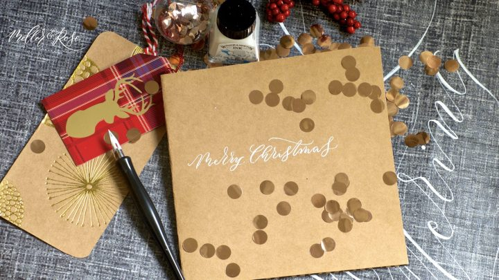 Mellor & Rose Christmas Calligraphy workshop