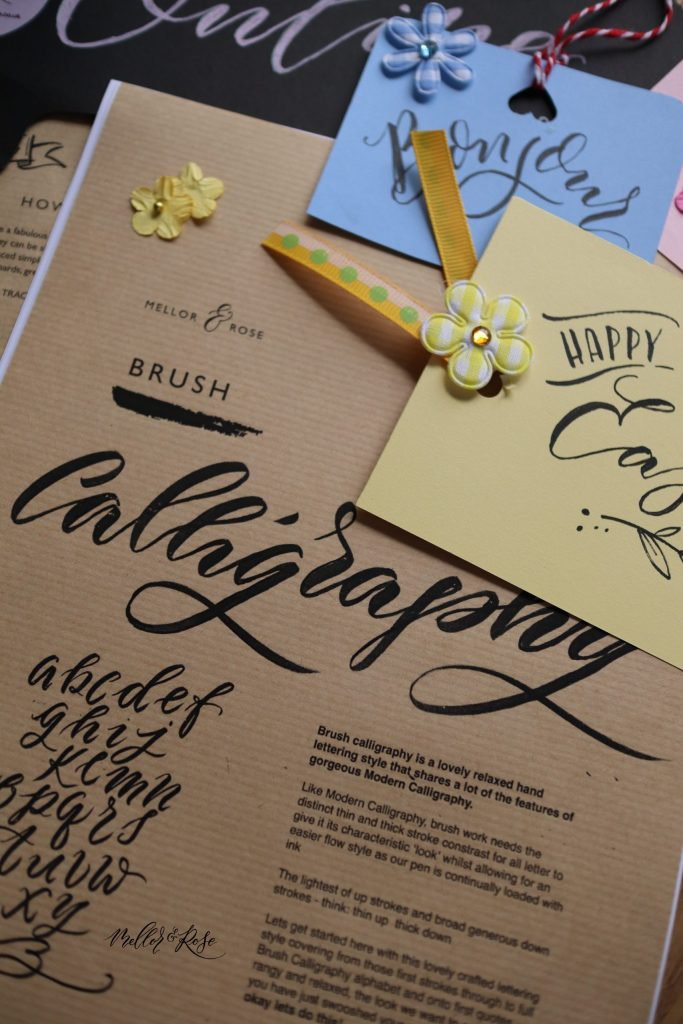 Online Brush Lettering Workshop Mellor & Rose
