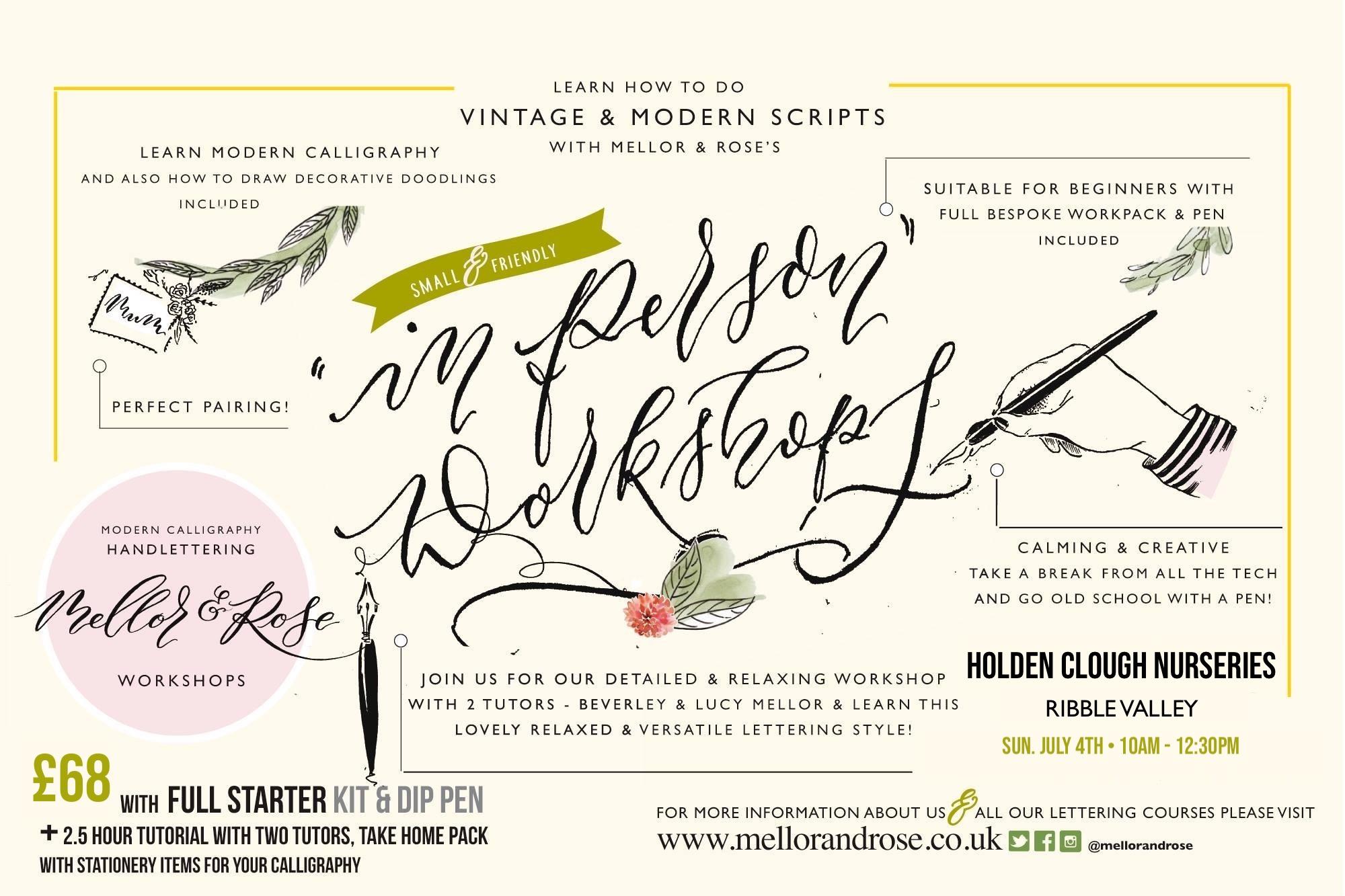 Holden Clough Nurseries - Mellor & Rose Calligraphy Workshop