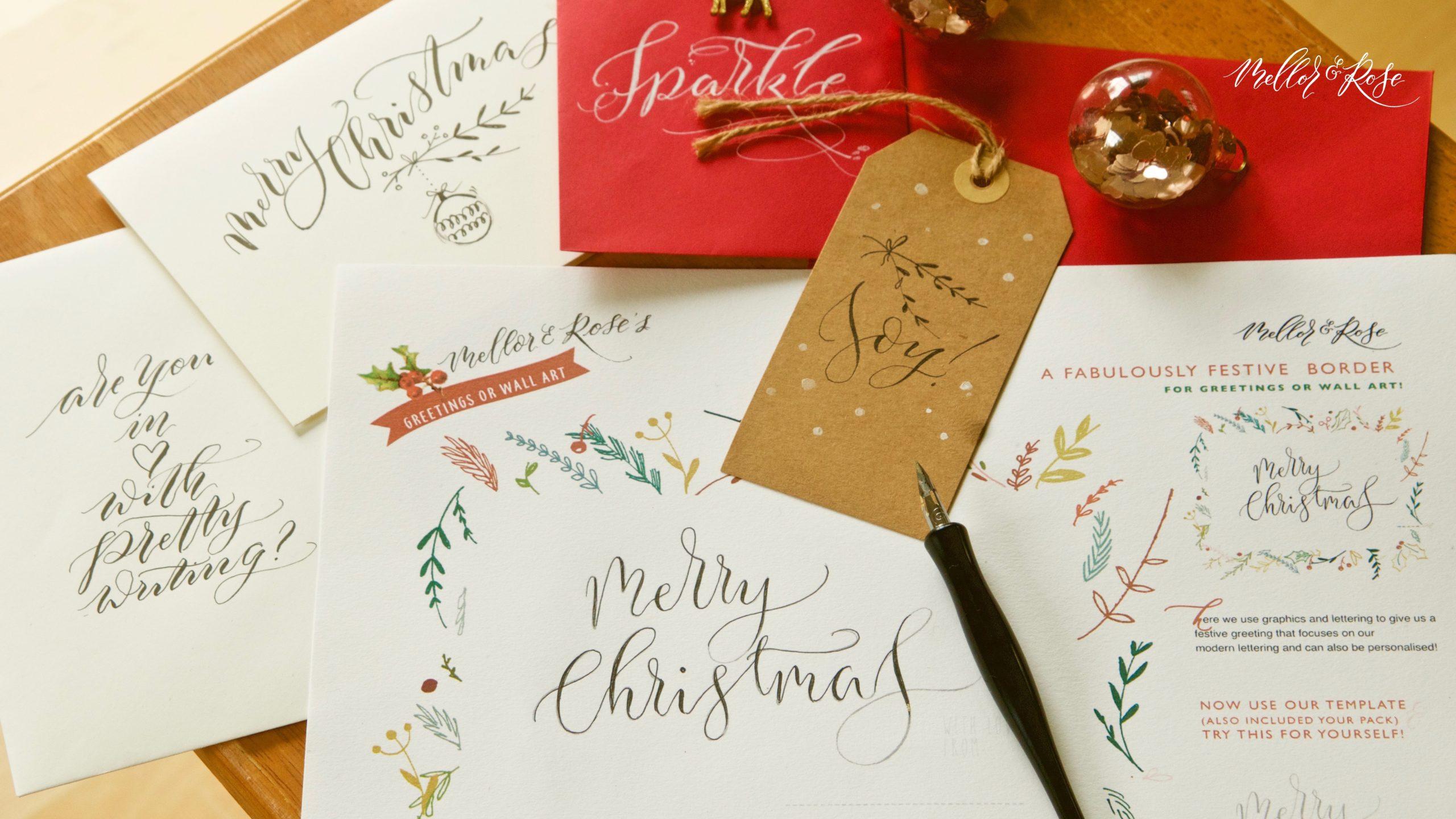 Cedar Farm - Mellor & Rose Christmas Calligraphy Workshop