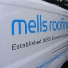 Sign written Mells Roofing van