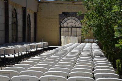 Van Gogh: Courtyard Setup for Ceremony
