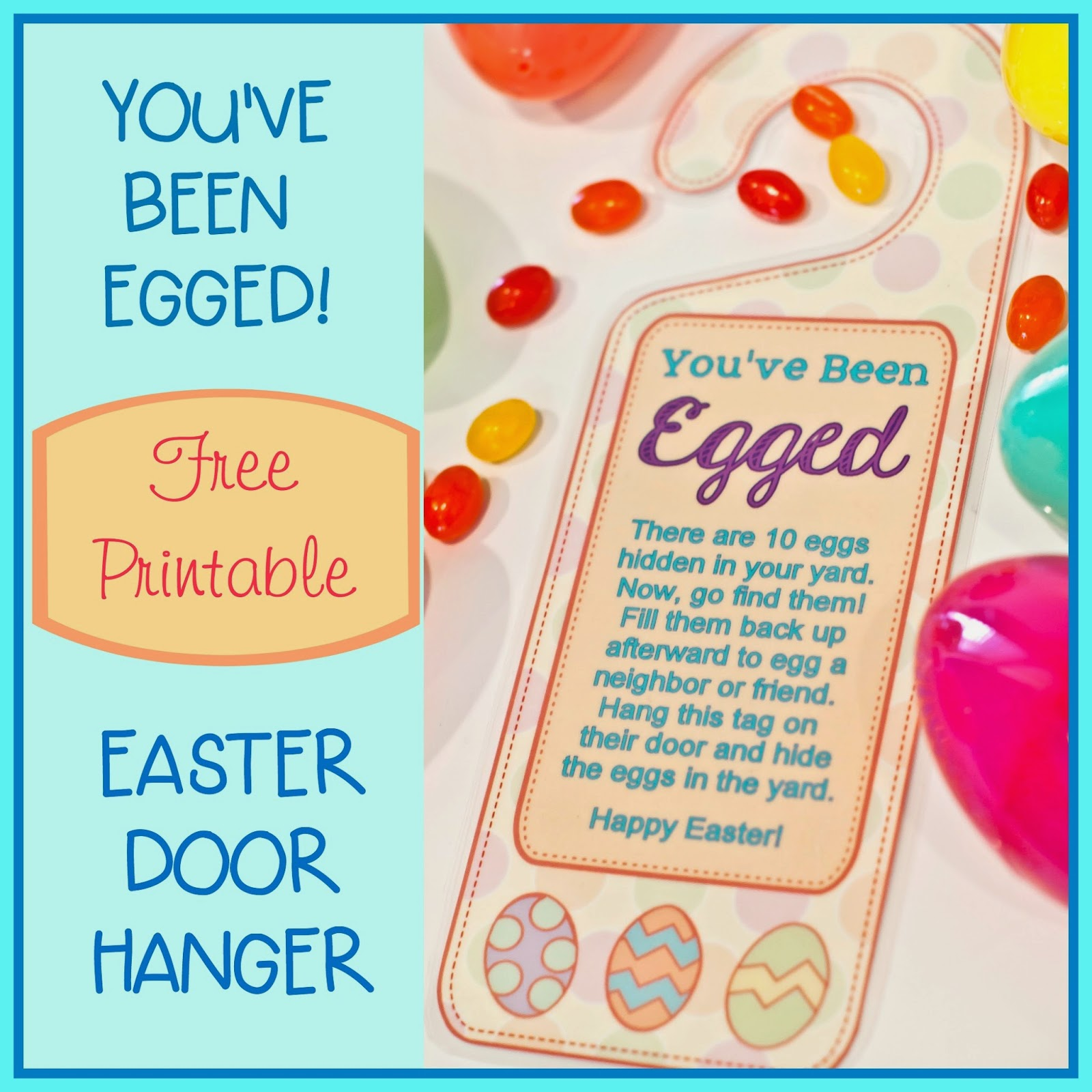 photo relating to You've Been Egged Printable identify Youve Been Egged\u201d Doorway Hanger