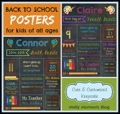 Customized Stat Posters: BACK TO SCHOOL & BIRTHDAYS!
