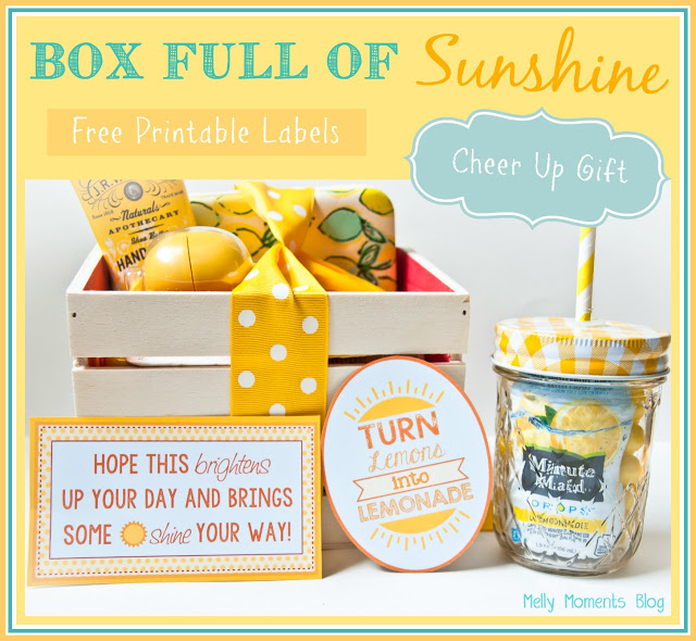 picture about Box of Sunshine Printable named A Cheer Up \u201cSunshine\u201d Basket