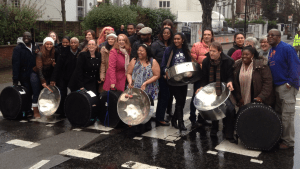 The Melodians on the Abbey Road crossing
