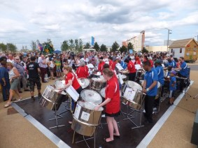 The crowds really enjoyed listening and dancing to the Melodians at the Olympic Park.
