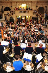 Bristol Museum and Art Gallery plays host to steel band  'the Melodians Steel Orchestra'