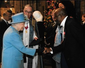 Meeting the Queen after the Service