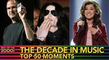 I 50 migliori momenti musicali del decennio