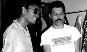 Michael Jackson e Freddie Mercury