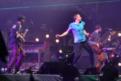 Coldplay Performance - Chis Martin, Johnny Buckland, Will Chapion e Guy Berryman