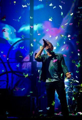 Chris Martin - Coldplay - Festival di Glastonbury 2011