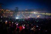 Stadio olimpico - Coldplay - braccialetti fluorescenti | © Paolo Palladino